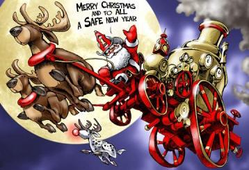 Upper Allen Fire Department » Blog Archive » CHRISTmas-fire-cartoon