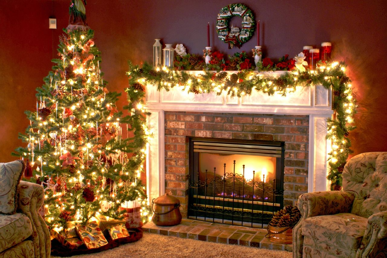 Fireplace Christmas.Christmas Tree And Fireplace Upper Allen Fire Department